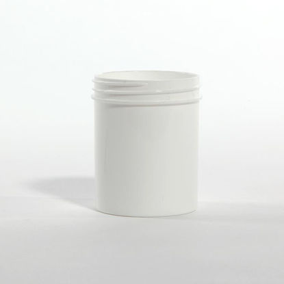 Picture of 4 oz White PP Straight Side Jar, 58-400