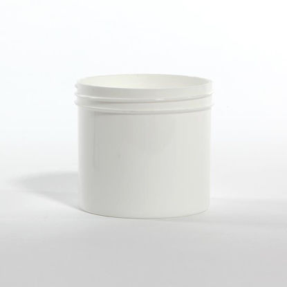 Picture of 12 oz White PP Straight Side Jar, 89-400