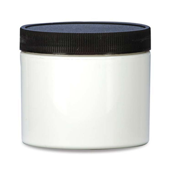 Picture of 8 oz White PP Straight Side Jar, 89-400