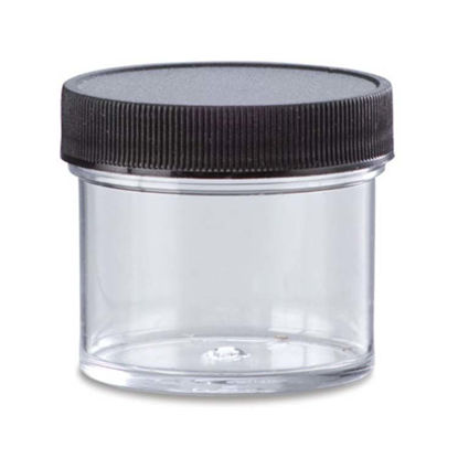 Picture of 16 oz Clear PS Straight Side Jar, 89-400