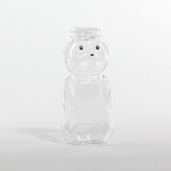 Picture of 8 oz Clear PET Honey Bear, 38-400, 23.7 Gram