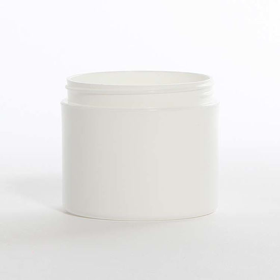 Picture of 4 oz White PP Double Wall Jar, 70-400, Straight Base