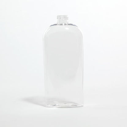 Picture of 16 oz Clear PETE Tapered Oval, 24-410, 36.4 Gram
