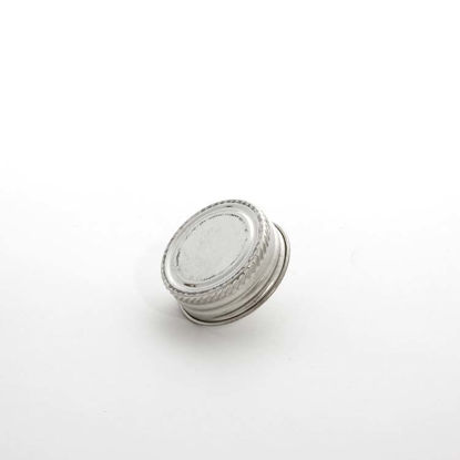 "Picture of 1 1/4"" Alpha Metal Cap w/ .045 mm Pulp Aluminum Foil Liner"