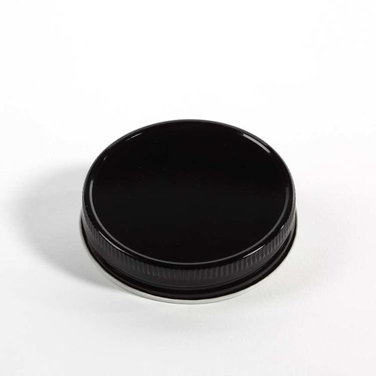 Picture of 70G-450 Black/White Metal Deep Skirt Cap w/ Plastisol Liner