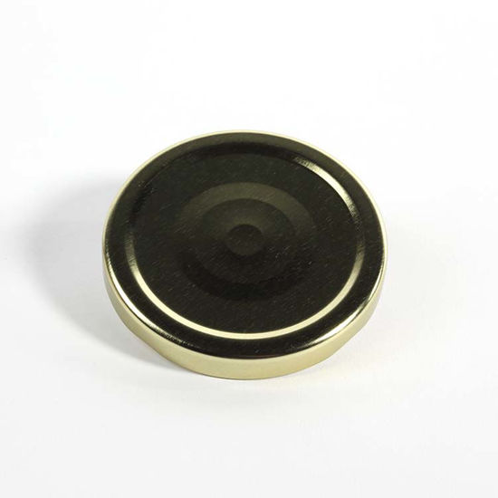 Picture of 70 mm Gold Metal Lug/Twist Button Cap w/ Plastisol Liner