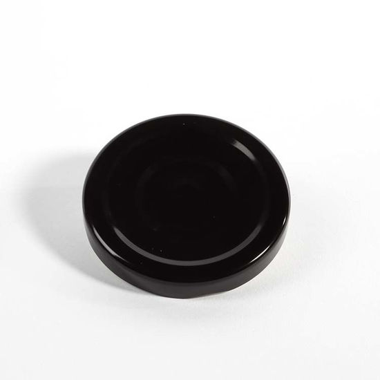 Picture of 63 mm Black Metal Lug/Twist Button Cap w/ Plastisol Liner
