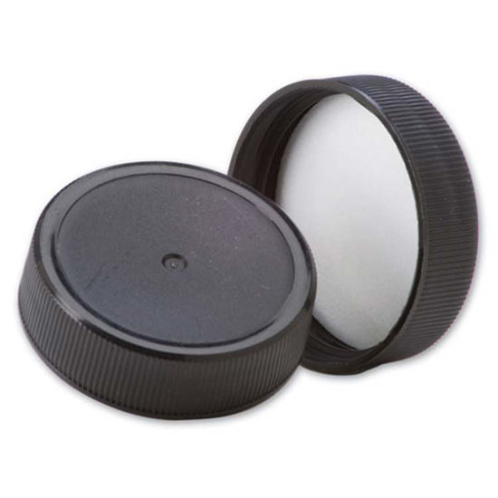 Picture of 38-400S Black PP Screw Cap w/ Sure Seal Liner