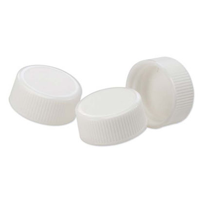 Picture of 22-400 White PP Screw Cap with F217 Liner