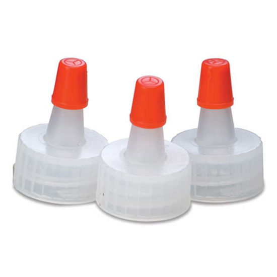 Picture of 18-400 Natural PP Spout Cap with Regular Red Tip (No Hole)