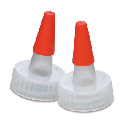 Picture of 24-400 Natural PP Spout Cap w/ Long Red Tip
