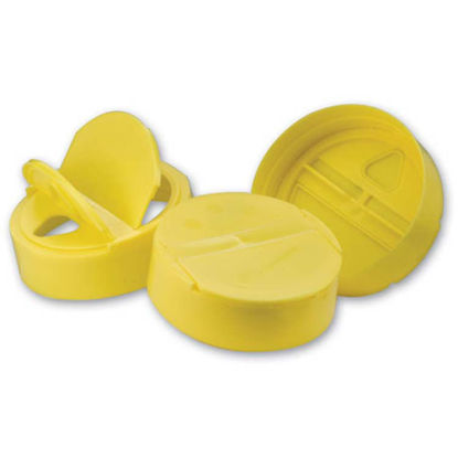 Picture of 63-485 Yellow PP Hinged Tri Pour Cap