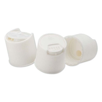 Picture of 24-410 White PP Ribbed Sides Disc Top Cap