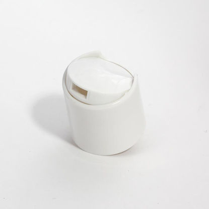 Picture of 28-410 White PP Smooth Disc Top Cap (.330 Orifice)