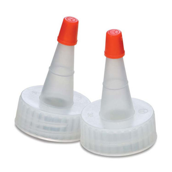 Picture of 28-400 Natural LDPE Spout Cap with Regular Red Tip (No Hole)