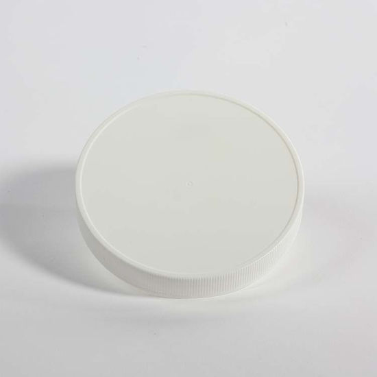 Picture of 120-400 White PP Matte Top, Ribbed Sides Cap with Foil Heat Seal for PP Liner
