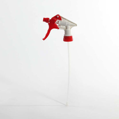 "Picture of 28-400 Red/White Heavy Duty Sprayer w/ 9.25"" Dip Tube"