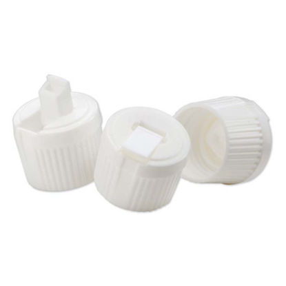 Picture of 24-410 White PE Turret Spout Cap w/ PS162 Liner (3mm Orifice)
