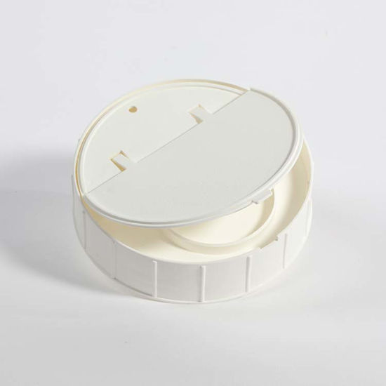 Picture of 120 mm White PP Spring Loaded Canister Lid
