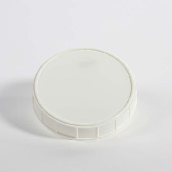 Picture of 120-400 White PP Matte Top, Ribbed Sides Cap (Unlined)