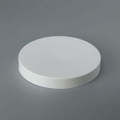 Picture of 110-400 White PP Smooth Top, Smooth Sides Cap with FS5-4/C1S.008 (Heat Seal for PE)