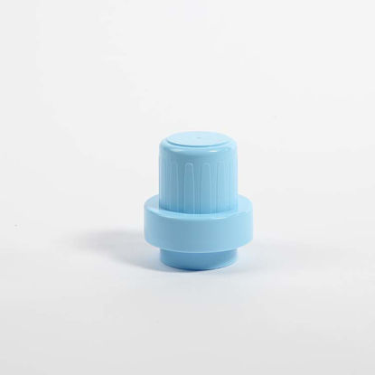 Picture of 51 mm Blue PP Drainback Overcap with 4% LDPE Foam Liner