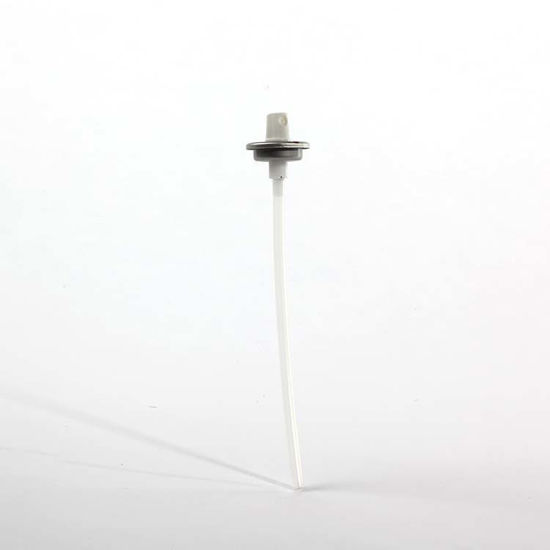 "Picture of White PP Aerosol Valve w/ 6 28/32"" Dip Tube"