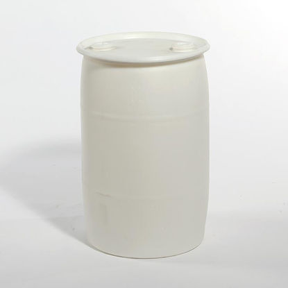 "Picture of 30 Gallon Natural Plastic Tight Head Drum w/ 2"" and 2"" Fittings, 1H1/Y1.9/150"