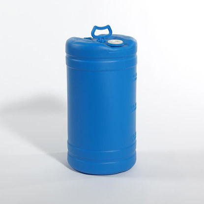 "Picture of 15 Gallon Blue Plastic Tight Head Drum with 2"" and 3/4"" Fittings, 1H1/Y1.8/150"