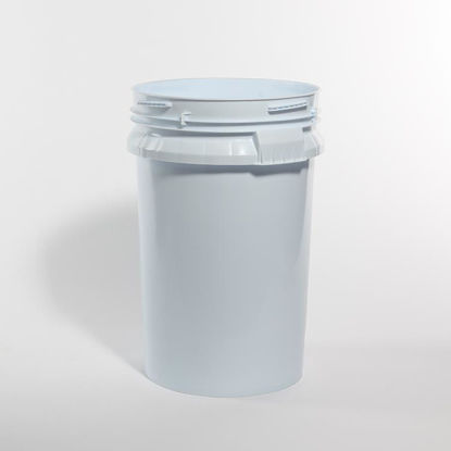 Picture of 100 lb Blue/White HDPE Open Head Pail, 1H2/Y52.42/S