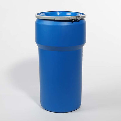Picture of 20 Gallon Blue Plastic Open Head Drum, 1H2/Y130/S