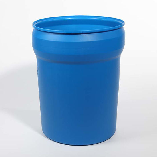 Picture of 40 Gallon Blue Plastic Open Head Drum, 1H2/X100/S