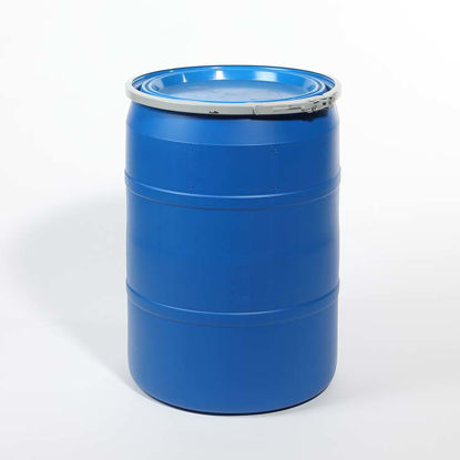 Picture of 30 Gallon Blue Plastic Open Head Drum, 1H2/Y180/S