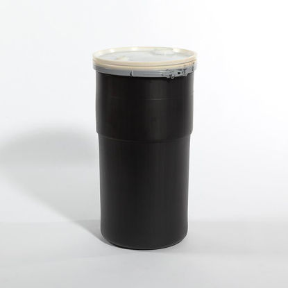 Picture of 14 Gallon Black Plastic Open Head Drum, 1H2/X65/S