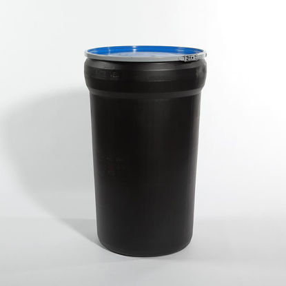 Picture of 55 Gallon Black Plastic Open Head Drum, 1H2/Y170/S