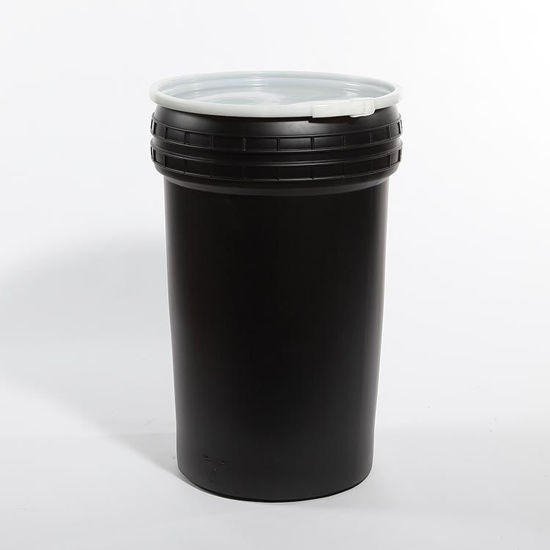 Picture of 55 Gallon Black Plastic Open Head Drum, Y100/S