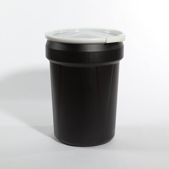 Picture of 30 Gallon Black Plastic Open Head Drum, 1H2/X100/S & 1H2/Y100/S