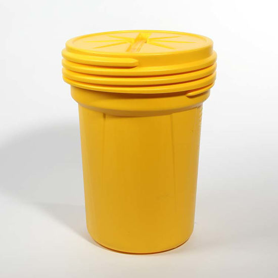 Picture of 30 Gallon Yellow Plastic Open Head Drum, 1H2/X120/S & 1H2/Y180/S