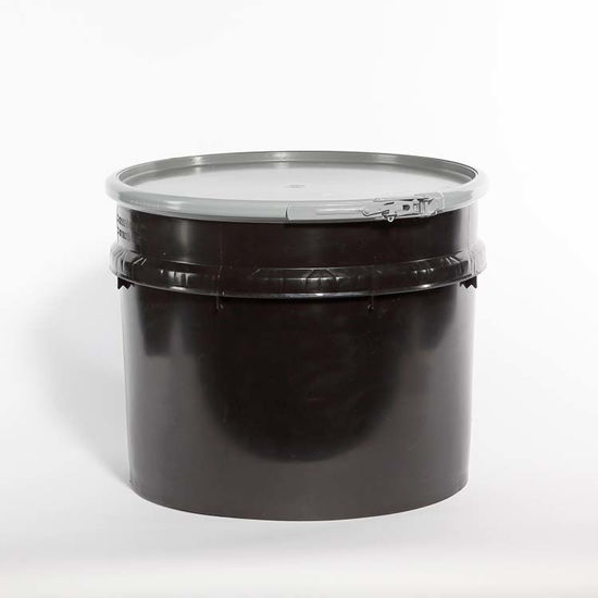 Picture of 20 Gallon Black Plastic Open Head Drum, UN