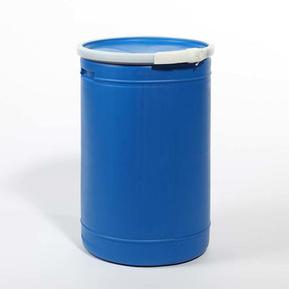 Picture of 14 Gallon Blue Plastic Open Head Drum