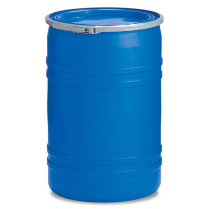 Picture of 30 Gallon Blue Plastic Open Head Drum