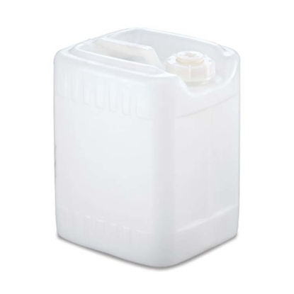 Picture of 2.5 Gallon Natural HDPE Square Tight Head, 63 mm Opening