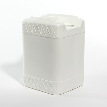 Picture of 20 liter White HDPE Square Tight Head, 63 mm Dust Cap & No Vent Stem, 3H1/Y1.8/100