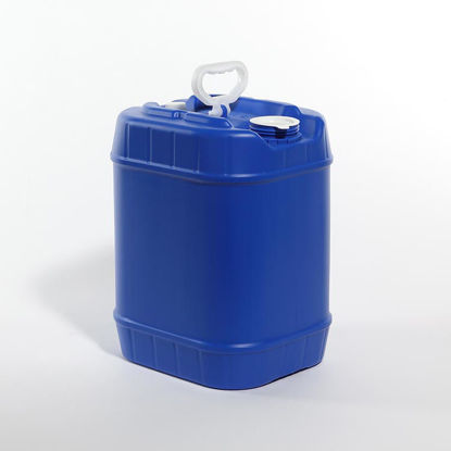 Picture of 5 Gallon Blue HDPE Square Tight Head, 70 mm & 28 mm Vent w/ Cap, 3H1/Y1.8/100