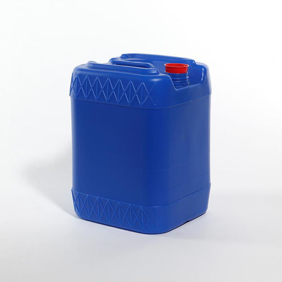 Picture of 5 Gallon Blue HDPE Square Tight Head, 61 mm & Closed Vent w/ Cap, 3H1/Y1.8/100
