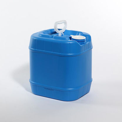 Picture of 4 Gallon Blue HDPE Square Tight Head, 70 mm, 3H1/Y1.8/100