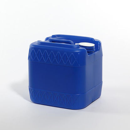 Picture of 3.5 Gallon Blue HDPE Square Tight Head, 70 mm & Closed Vent, 3H1/Y1.8/100