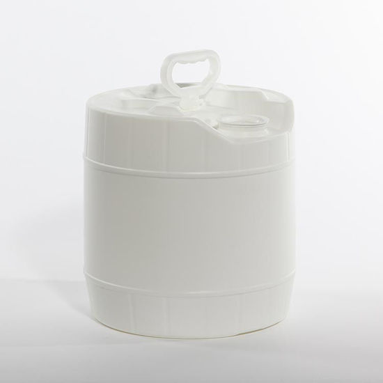 Picture of 3.5 Gallon White HDPE Round Tight Head, Rieke Prep w/ Dust Cap, 3H1/Y1.8/100
