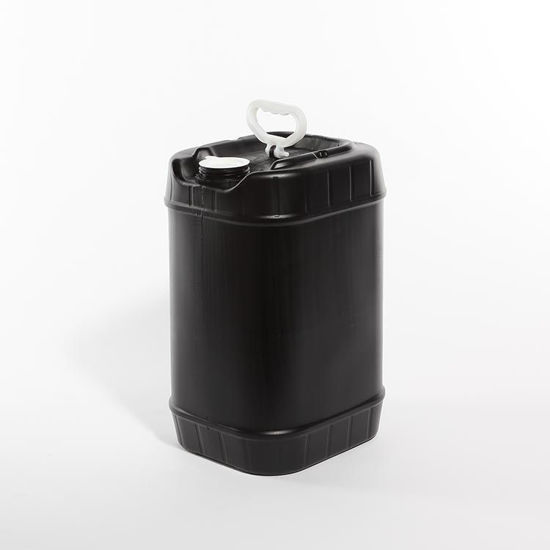 Picture of 6 Gallon Black HDPE Square Tight Head, 70 mm Dust Cap, 3H1/Y1.8/100