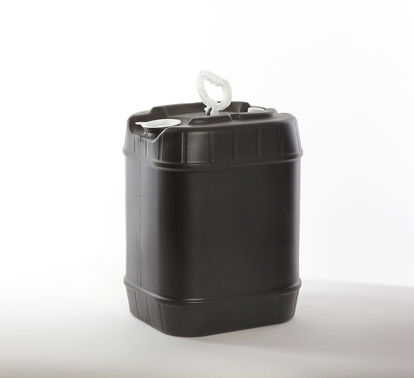 Picture of 5 Gallon Black HDPE Square Tight Head Pail, 63 mm & Closed Vent, 3H1/Y1.8/100